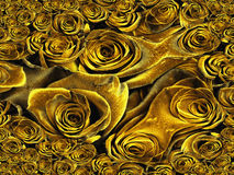Yellow Roses Abstract Royalty Free Stock Images