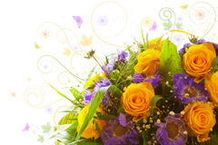 Yellow roses  bouquet. Royalty Free Stock Photos