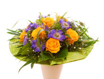 Yellow roses  bouquet. Royalty Free Stock Images