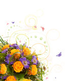 Yellow roses  bouquet. Stock Image