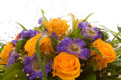 Yellow roses  bouquet. Royalty Free Stock Photography