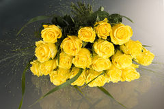Yellow roses. Bunch of flowering yellow roses Stock Photography