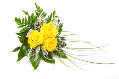 Yellow roses. Royalty Free Stock Photos