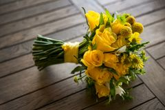 Yellow Flowers Bouquet Royalty Free Stock Images