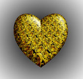 Yellow roses heart Royalty Free Stock Image