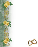 Yellow Roses Wedding or Party Invitation Royalty Free Stock Photo