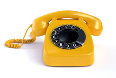 Yellow Rotary Phone Royalty Free Stock Photo