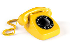 Yellow Rotary Phone Stock Image