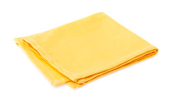 Yellow napkin Royalty Free Stock Photo