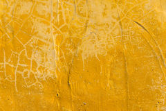 Yellow rough texture cement wall closeup for background Stock Photos