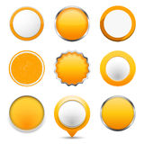 Yellow Round Buttons Royalty Free Stock Photo