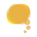 yellow round chat bubble icon Stock Photography