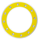 Yellow round frame stock photography