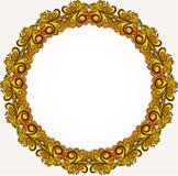 Yellow round frame Royalty Free Stock Photos