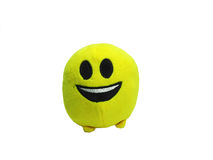 Yellow round slime with small legs. Children toy. Yellow round slime with small legs Stock Photography