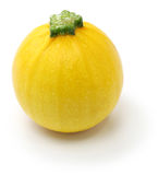 Yellow round zucchini Royalty Free Stock Photo