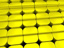 Yellow rounded blocks array background Stock Image