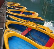 Yellow Rowboats Stock Image