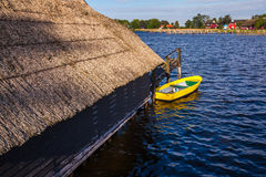 Yellow rowing boat Royalty Free Stock Photo