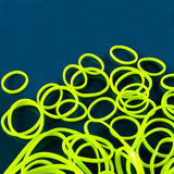 Yellow rubber bands Stock Photography