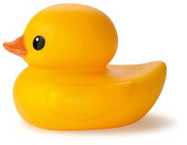 Yellow rubber bath duck toy Royalty Free Stock Image