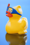 Yellow rubber duck, close-up Stock Images