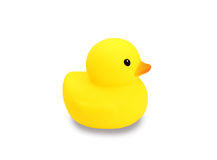 Yellow rubber duck. On white background Royalty Free Stock Photography