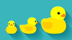 Yellow rubber ducks Royalty Free Stock Images