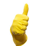 yellow rubber glove Royalty Free Stock Image