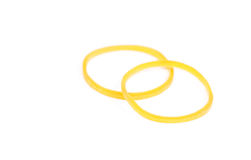 Yellow rubber ring Royalty Free Stock Photos