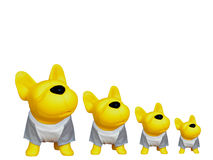 Yellow Rubber Toy Dog Royalty Free Stock Images