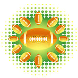 Yellow Rugby balls and haftone Royalty Free Stock Photos