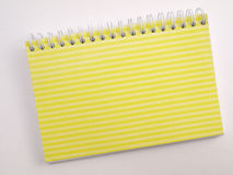 Yellow ruled flip note book 2 Stock Image