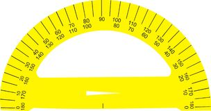 Yellow ruler Stock Photography