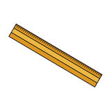 Yellow ruler icon Stock Image
