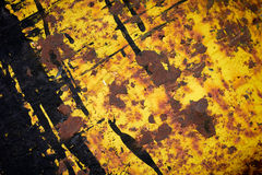 Yellow Rusty Iron Texture. Royalty Free Stock Images