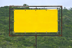 Yellow rusty sign Royalty Free Stock Images