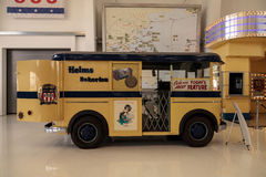 Yellow 1940s Divco Helms Bakery Truck Royalty Free Stock Photo