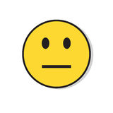 Yellow Sad Face Negative People Emotion Icon Stock Photos