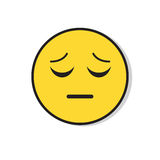 Yellow Sad Face Negative People Emotion Icon Stock Photography
