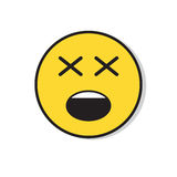 Yellow Sad Face Negative People Emotion Icon Stock Images