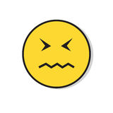 Yellow Sad Face Negative People Emotion Icon Royalty Free Stock Images