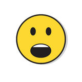 Yellow Sad Face Shocked Negative People Emotion Icon Royalty Free Stock Photography
