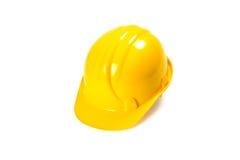 Yellow helmet. Yellow safe helmet isolated on white background Royalty Free Stock Photo