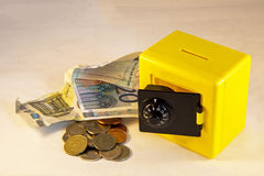 Yellow safe Stock Image