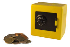Yellow safe Royalty Free Stock Images