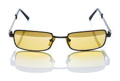 Yellow safety glasses Stock Image