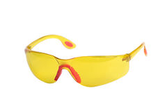 Yellow safety glasses Stock Photo