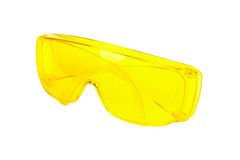 Yellow safety glasses Royalty Free Stock Photo