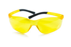 An yellow safety glasses Stock Image